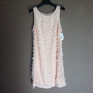 NEW $395 Pink Tartan size 0 soft peach Fleur dress